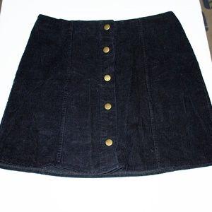 Clarisbelle Corduroy Snap Down Skirt
